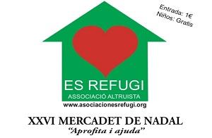 Mercadillo solidario de Navidad Es Refugi, en La Misericordia